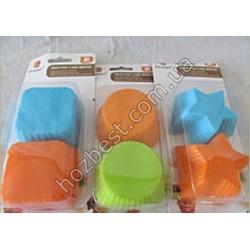 N-1548 Набор форм для выпечки 6шт (силикон)