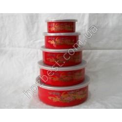 N-1859 Судочки эмалированные для хранения пищевых продуктов (5шт).