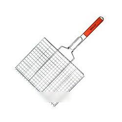 N-3323 Решетка барбекю двойная, для гриля, размеры 55х27х24 см, плоская малая