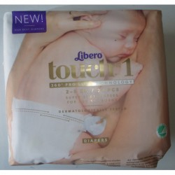 N-3655 Памперсы Libero touch1 25шт
