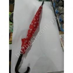 N-1036 Зонт парасолька красный принт горошек 82см