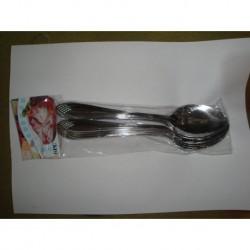 N-6213 Ложка столовая ромбик серебро
