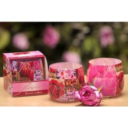 N-6607 Свеча в стакане ароматизированная Букет цветов