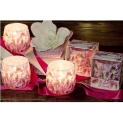 N-6608 Свеча в стакане ароматизированная Букет цветов1