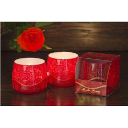 N-6610 Свеча в стакане ароматизированная Роза