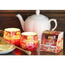 N-6616 Свеча в стакане ароматизированная Фруктовый чай