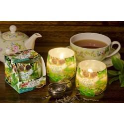 N-6617 Свеча в стакане ароматизированная Зеленый чай 1