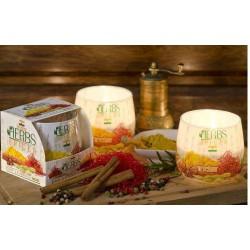 N-6618 Свеча в стакане ароматизированная Специи