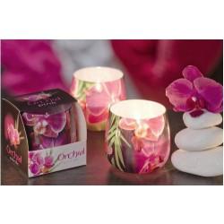 N-6621 Свеча в стакане ароматизированная Орхидея