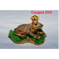 N-7641 Шкатулка металлическая лягушка