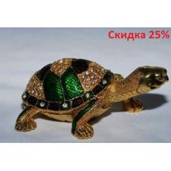 N-7642 Шкатулка металлическая черепаха