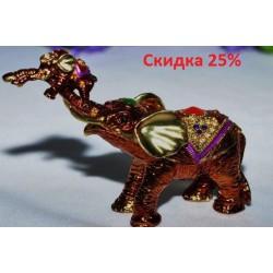 N-7643 Шкатулка металлическая слон