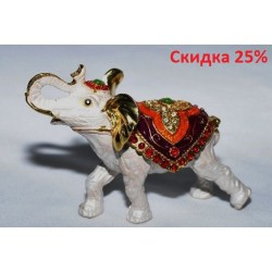 N-7644 Шкатулка металлическая слон