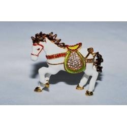 N-7646 Шкатулка металлическая конь