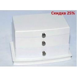 N-7681 Шкатулка под ювелирку комод белый