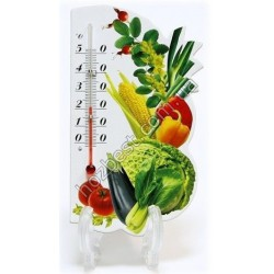 """N-677 Сувенир-термометр """"Фрукты и овощи"""" на магните"""