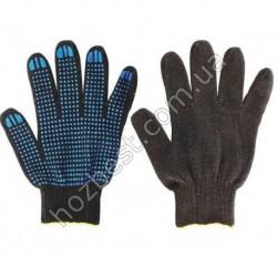 N-63 Перчатки вязанные с ПВХ точкой