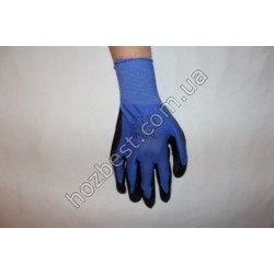 N- 1127 Перчатка стрейчевая облита нитрилом(плотная)