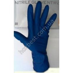 N-1254 Перчатка латексная синяя